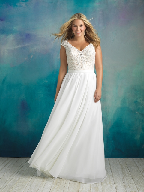 W415f Allure Andreas Bridal Plus Size Wedding Dress Andreas Bridal